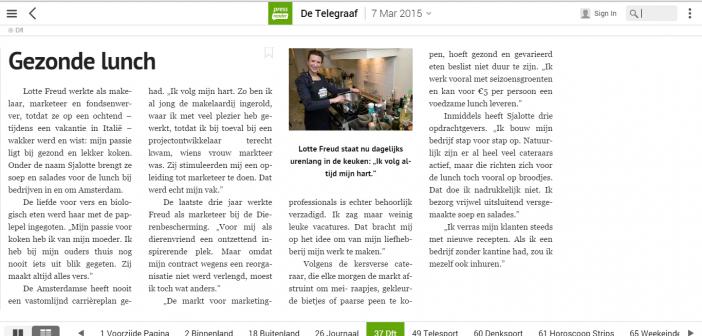 Telegraaf zaterdag 7 maart